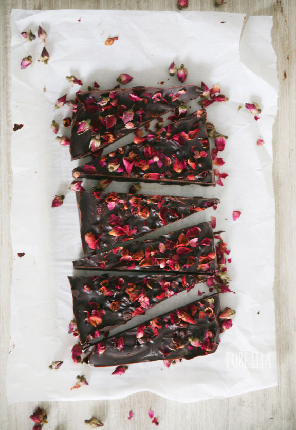 Rose Petal Dark Chocolate Bar