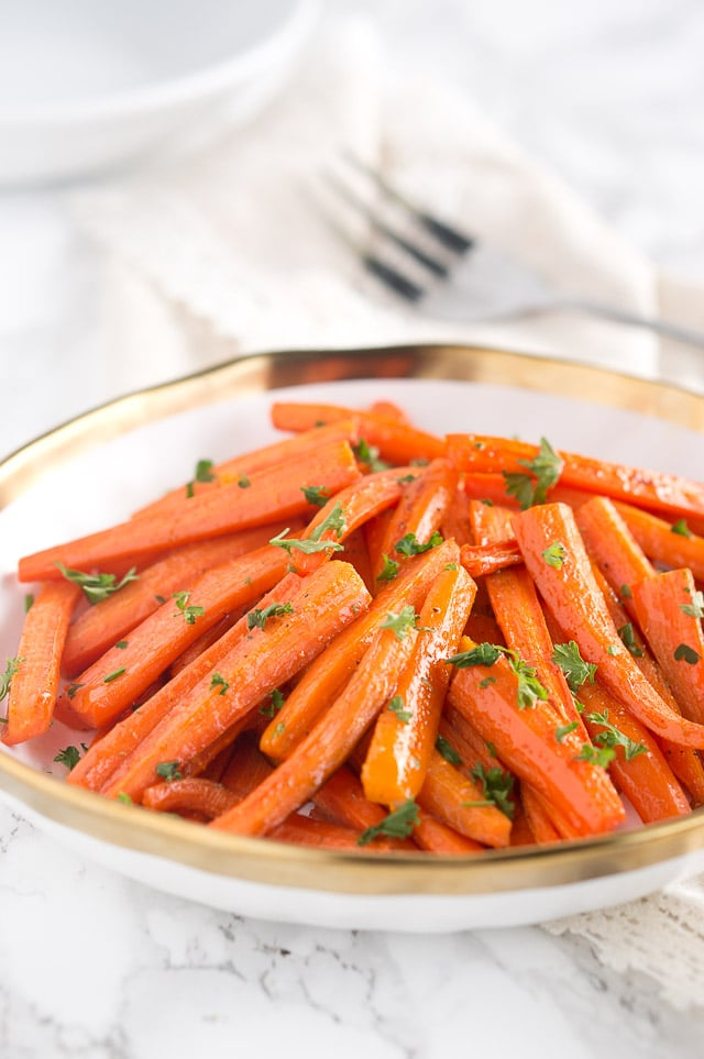 Roasted Honey Glazed Carrots