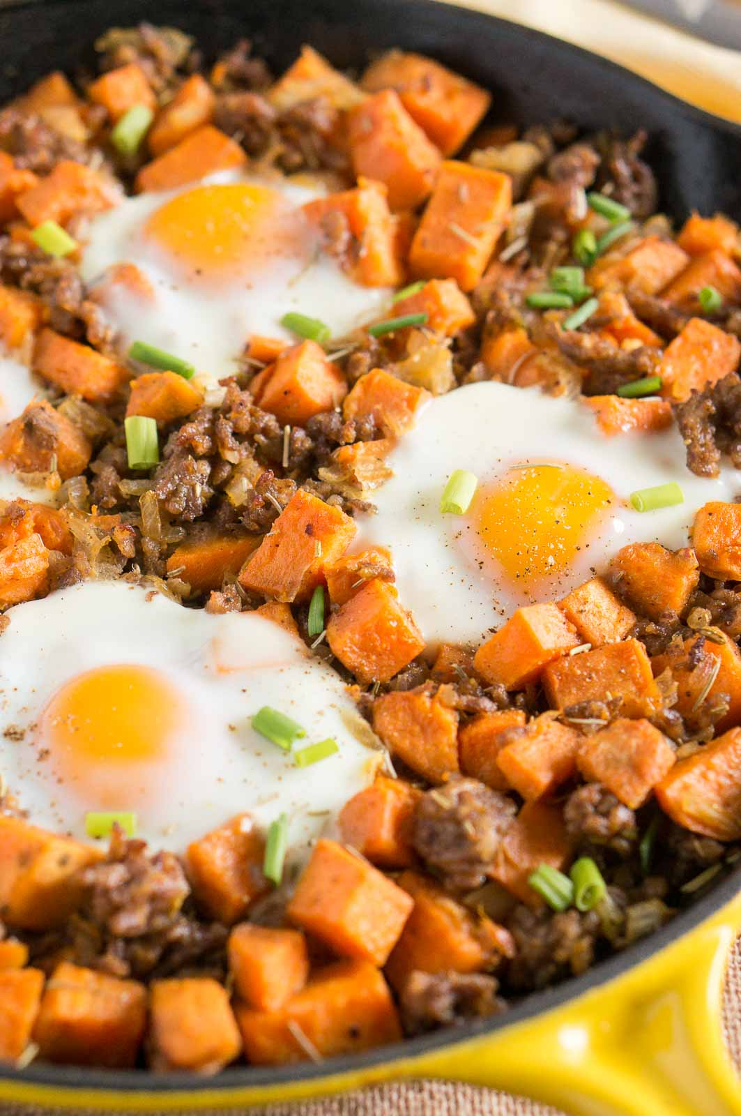 Sweet Potato Hash With Sausage And Eggs Is The Perfect Brunch Recipe Great Breakfast