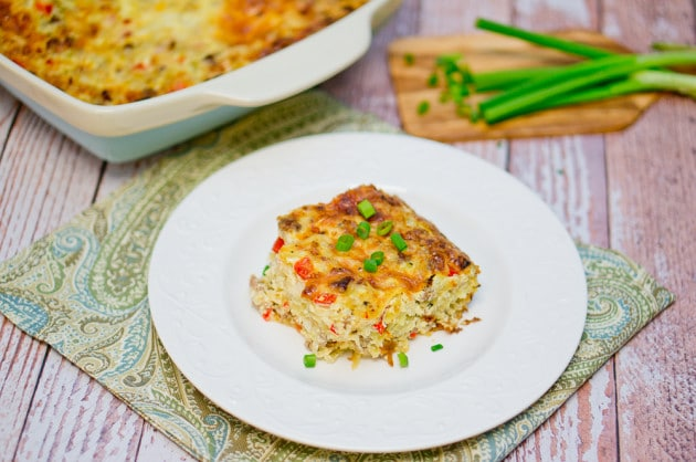 hashbrown and sausage casserole-11