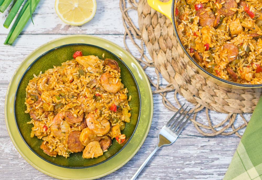 This jambalaya recipe is so flavorful and delicious. Classic Louisiana meal - hearty and filling. Recipe and step by step photos included.