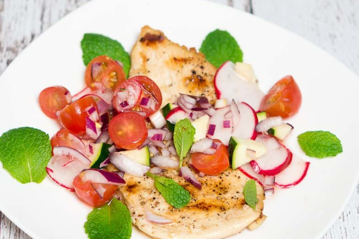 grilled chicken w- cucumber+radish+cherry tomato relish-3