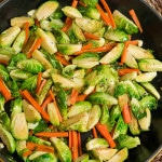 sauteed brussels sprouts and carrots