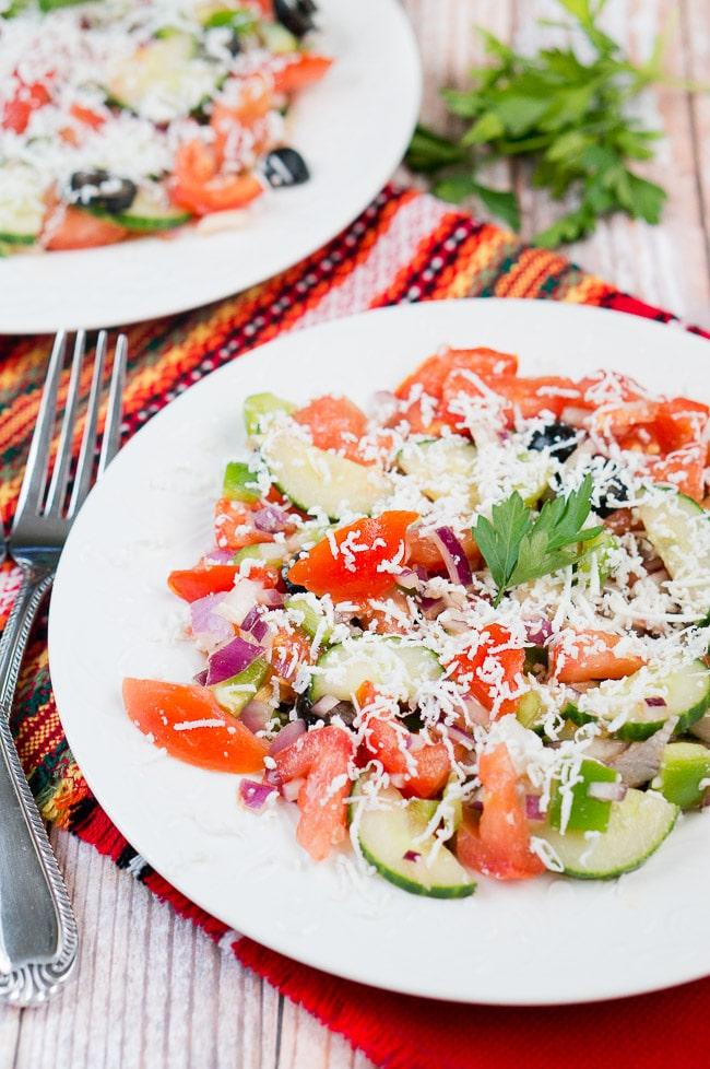 Shopska Salad Bulgarian Salad Delicious Meets Healthy