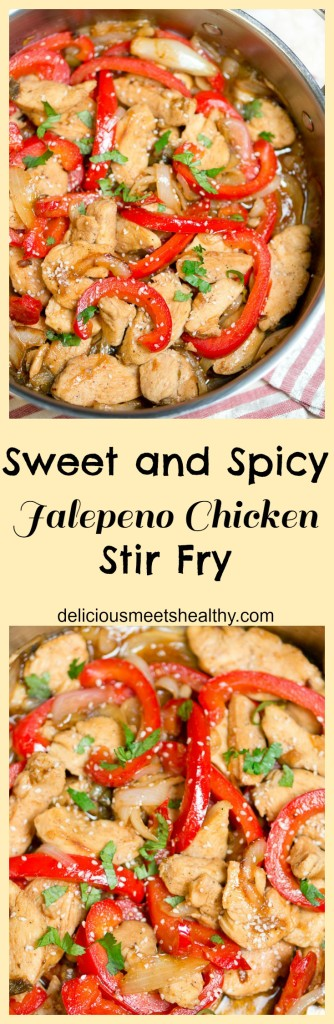 Sweet and Spicy Jalepeno Chicken Stir Fry