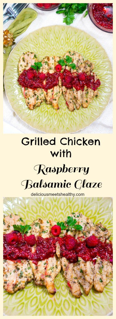 grilled chicken with raspberry balsamic glaze_