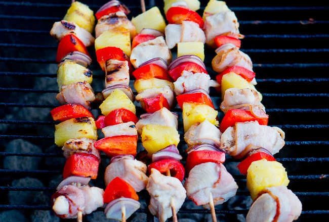 Bacon Pineapple Chicken Kebabs