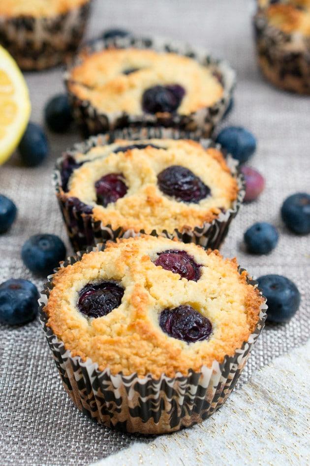 Paleo Lemon Blueberry Muffins