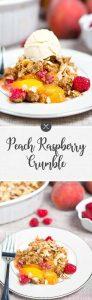 Peach Raspberry Crumble