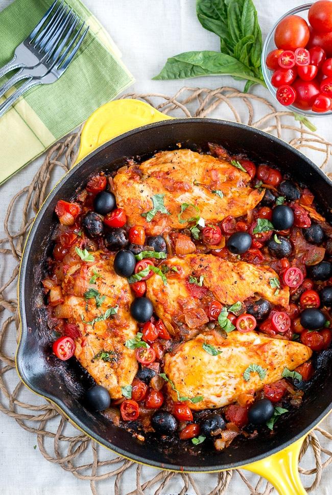 Chicken Puttanesca