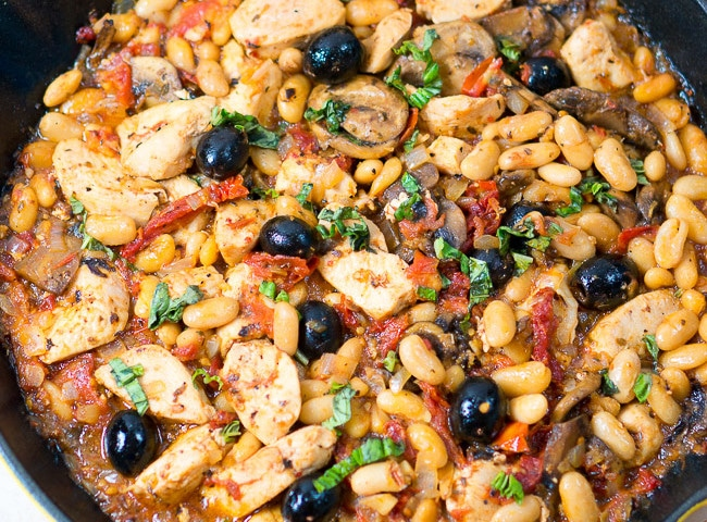 One Skillet Tuscan Chicken