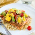 Blackened Salmon with Mango Avocado Salsa