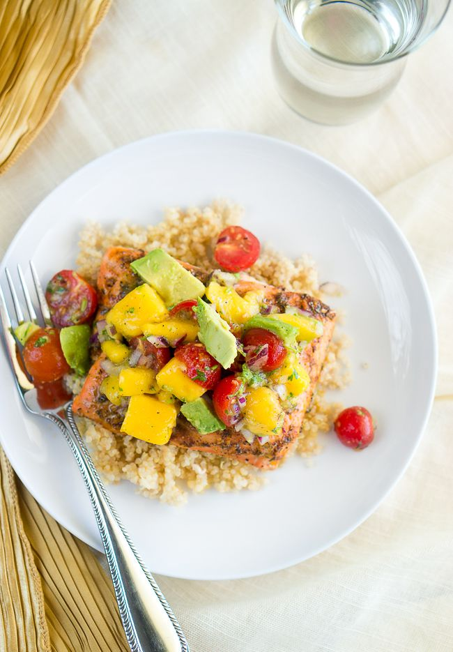 Blackened Salmon with Mango Avocado Salsa-2