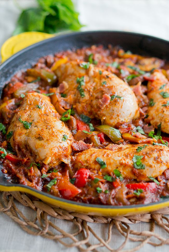 One Skillet Chicken Cacciatore