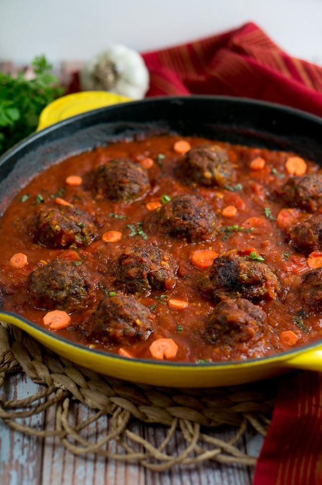Paleo Meatballs with Marinara Sauce