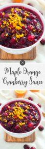 Maple Orange Cranberry Sauce