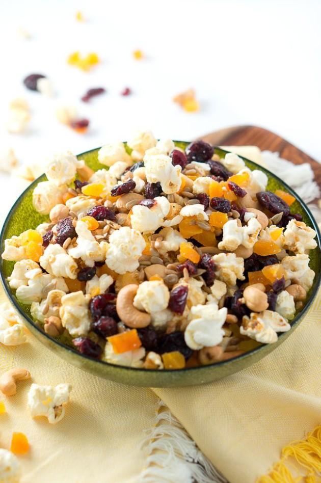 Healthy Popcorn Trail Mix