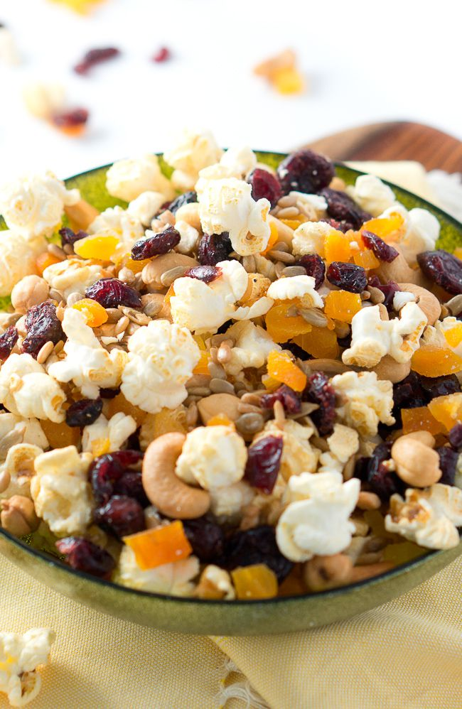 Healthy Popcorn Trail Mix | Delicious Meets Healthy