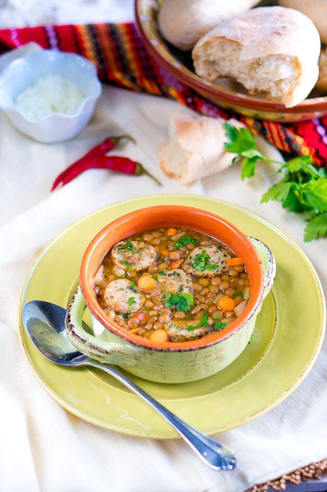Italian Lentil Soup with Sausage