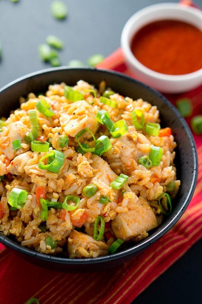 Spicy Chicken Fried Rice