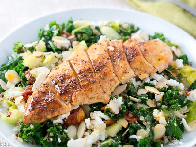 Greek Quinoa Salad with Chicken