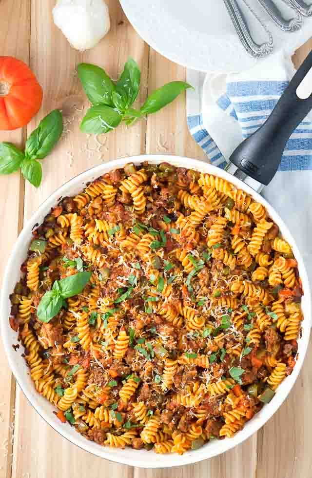 Italian Sausage and Peppers Pasta Skillet