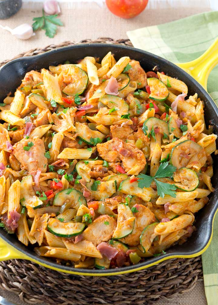Italian chicken and prosciutto pasta skillet delicious meets healthy italian chicken and prosciutto pasta skillet forumfinder