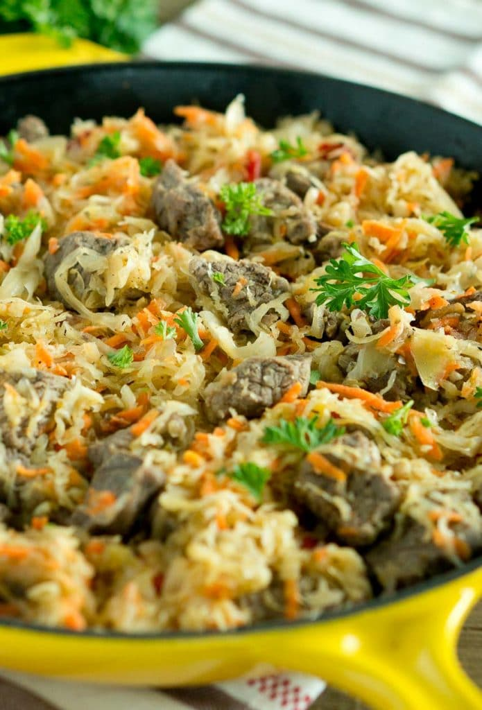 Beef and Cabbage Skillet