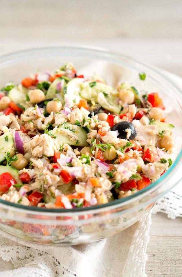 Mediterranean Tuna Salad | Delicious Meets Healthy