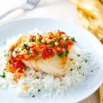 Mahi Mahi with Roasted Pepper Butter Sauce