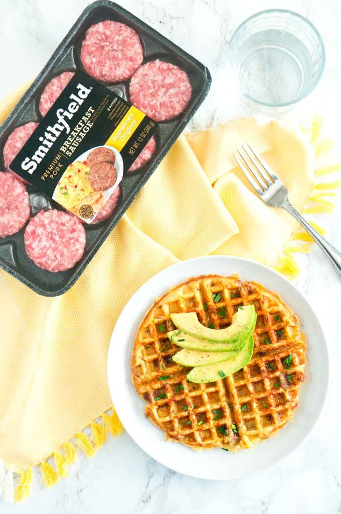 Sausage and Potato Waffles