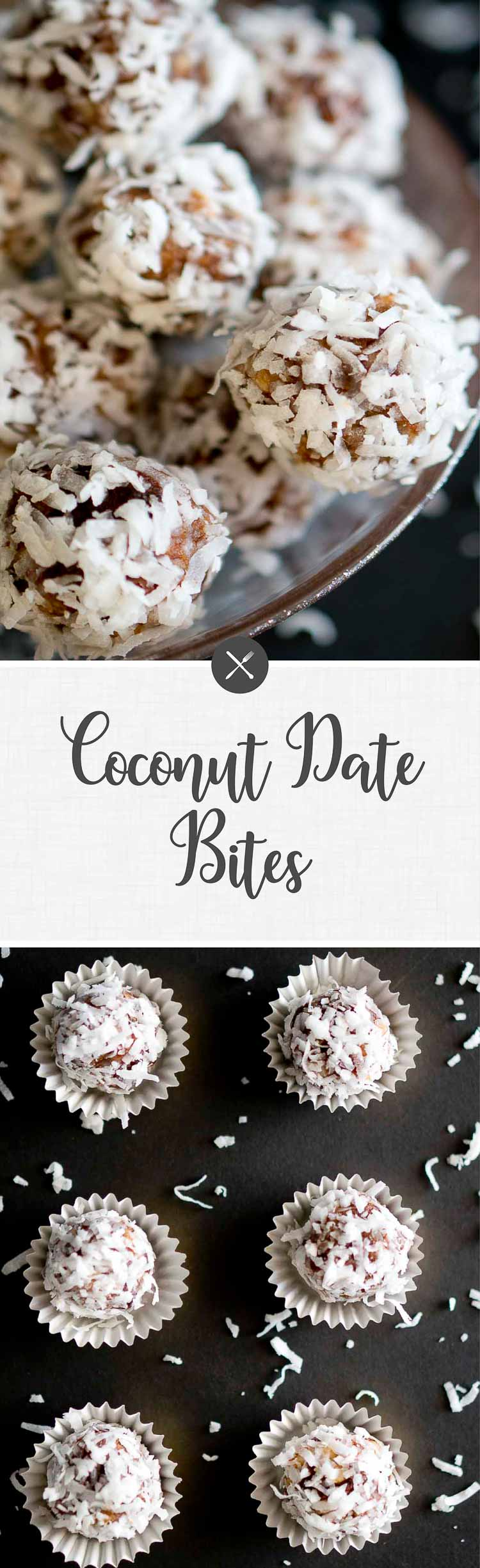 These naturally sweet no-bake coconut date bites are sweet little bites of absolute deliciousness, and they are gluten-free, paleo, dairy-free, and vegan!