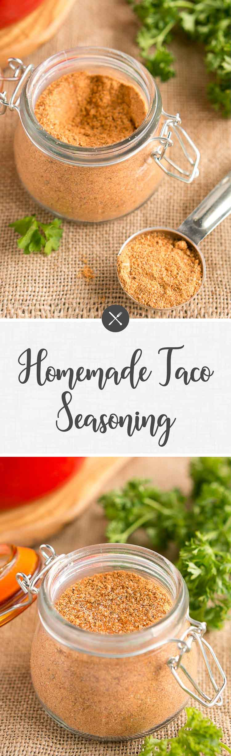 Homemade taco seasoning is easy to make at home, for much less money than the cost of packaged taco seasoning. It is great for your favorite Mexican meals!