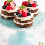 Red White Blue Mini Cakes