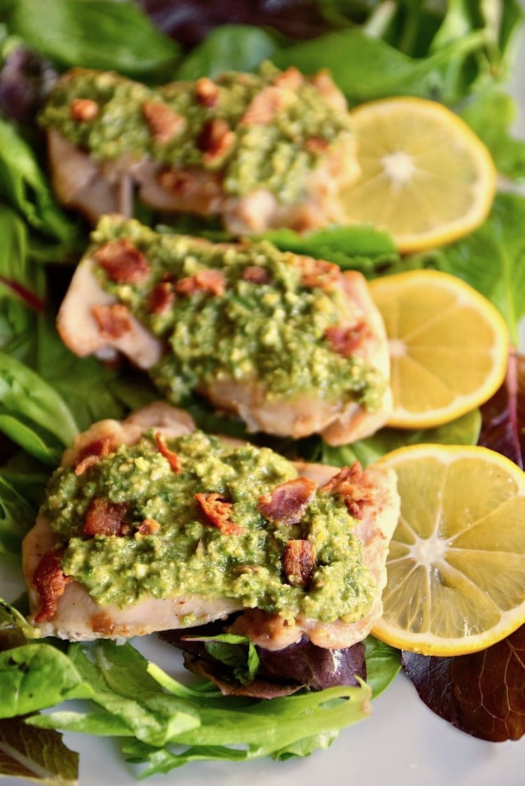 lemon chicken with mint gremolata