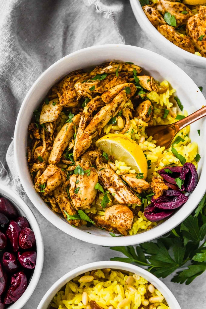 Whole30 dinner recipe for Chicken Shwarma