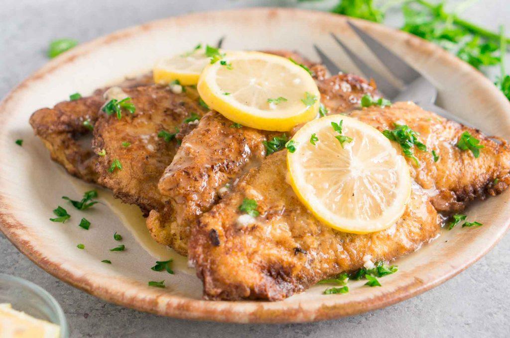 Chicken Cutlets in Lemon Butter Sauce